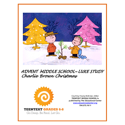 TeenText MS ADVENT LUKE CHARLIE BROWN CHRISTMAS Cover